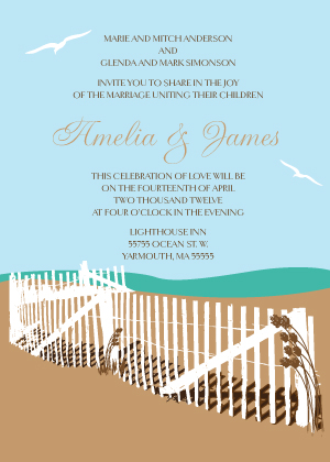 Wedding Invitation - East Coast Wedding