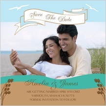 Save the Date Card with photo - east coast wedding
