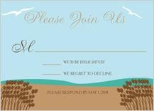Response Card - east coast wedding