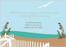 Reception Card - east coast wedding