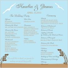 Program - east coast wedding