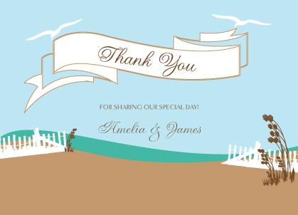 Wedding Thank You Card - East Coast Wedding