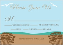 Response Card with menu options - east coast wedding