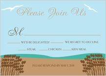 Response Card with menu options - east coast wedding
