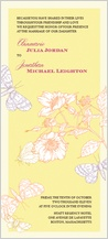 Wedding Invitation - happy butterflies