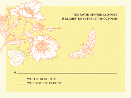 Response Card - Happy Butterflies