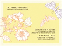 Reception Card - happy butterflies
