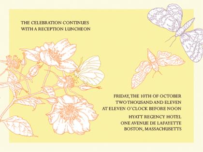 Reception Card - Happy Butterflies