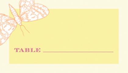 Place Card - Happy Butterflies