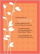Wedding Shower Invitation - leaf