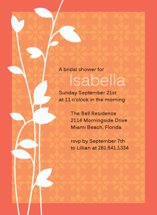 Wedding Shower Invitation - Leaf
