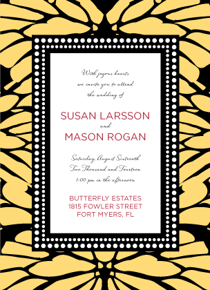 Wedding Invitation - Bold Butterfly