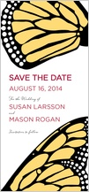 Save the Date Card - bold butterfly