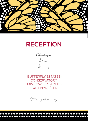 Reception Card - Bold Butterfly