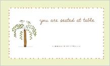 Place Card - bird.tree.flower.
