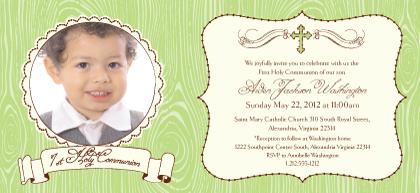First Communion Invitation - Modern Beau 1st Holy Communion