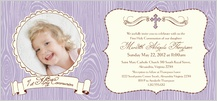 First Communion Invitation - modern femme 1st holy communion