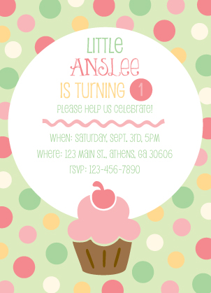 Little cupcake birthday party invitation look love send birthday party invitation little cupcake filmwisefo Gallery