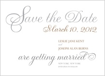 Save the Date Card - simplicity