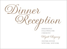 Reception Card - simplicity