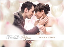 Wedding Thank You Card with photo - simplicity