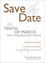 Save the Date Card - bold & elegant
