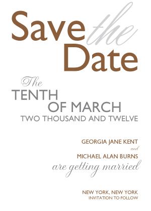 Save the Date Card - Bold & Elegant