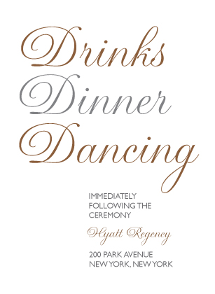 Reception Card - Bold & Elegant
