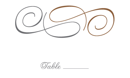 Place Card - Bold & Elegant