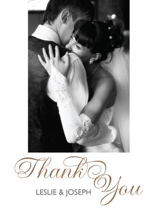 Wedding Thank You Card with photo - Bold & Elegant