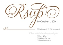 Response Card with menu options - bold & elegant