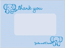 Baby Thank You Card - baby jumbo