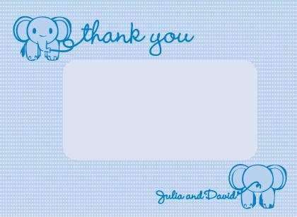 Baby Thank You Card - Baby Jumbo