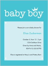 Baby Shower Invitation - baby crown
