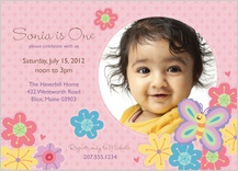 Birthday Party Invitation with photo - bugs