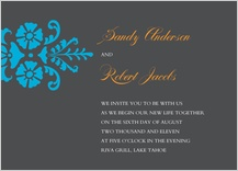 Wedding Invitation - bold fleurish