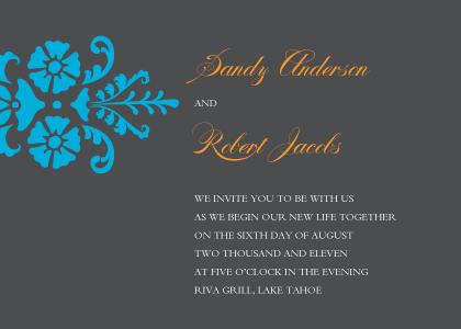 Wedding Invitation - Bold Fleurish