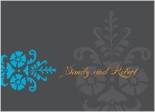Wedding Thank You Card - bold fleurish