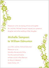 Wedding Invitation - modern floral