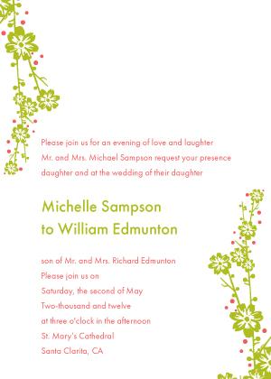 Wedding Invitation - Modern Floral