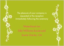 Reception Card - modern floral