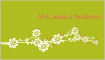 Place Card - modern floral