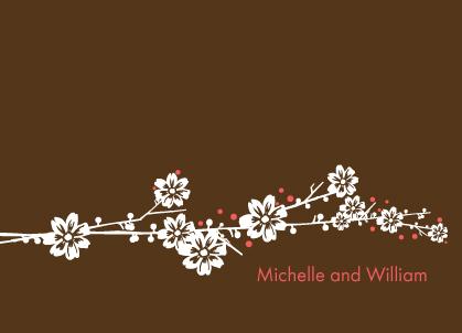 Wedding Thank You Card - Modern Floral