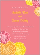 Wedding Invitation - zinnia burst