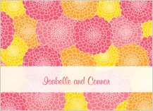 Wedding Thank You Card - zinnia burst