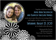Wedding Invitation with photo - black and white