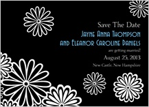 Save the Date Card - black and white