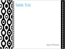 Wedding Thank You Card - black and white