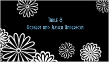 Place Card - black and white