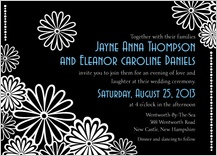 Wedding Invitation same sex - black and white